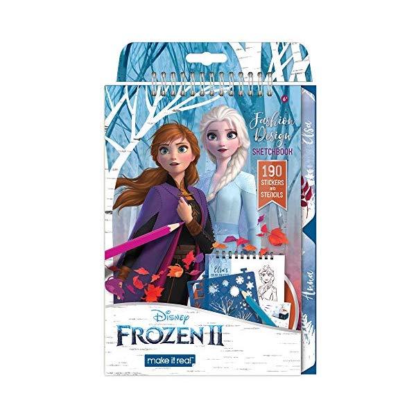 アナと雪の女王2 エルサ スケッチブック ぬりえ ファッション デザイン おもちゃ グッズ Make It Real ? Disney Frozen 2 Fashion Design Sketch Book. Disney Inspired Fashion Design Coloring Book for Girls. Includes Elsa Frozen 2