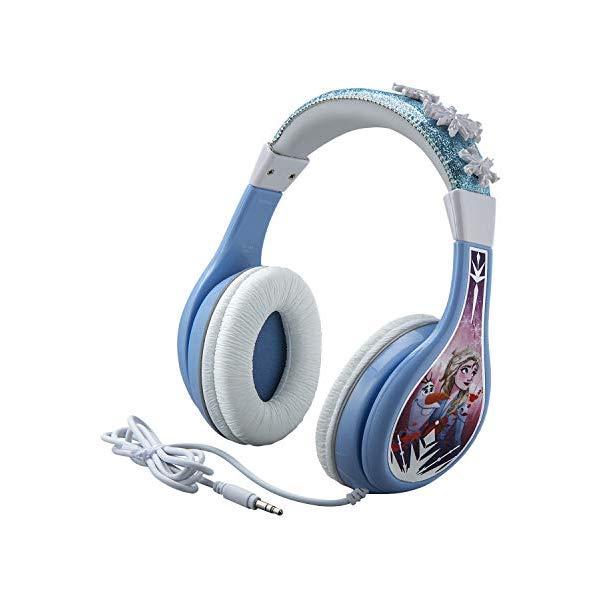 アナと雪の女王2 ヘッドフォン イヤホン 音楽 キッズ 子供用 女の子 おもちゃ グッズ Frozen 2 Kids Headphones, Adjustable Headband, Stereo Sound, 3.5Mm Jack, Wired Headphones for Kids, Tangle-Free, Volume Control, Foldable, Childrens Headphones