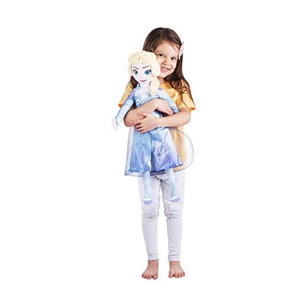 アナと雪の女王2 エルサ 大きい ぬいぐるみ 抱き枕 クッション 寝具 グッズ Franco Kids Bedding Super Soft Plush Snuggle Cuddle Pillow, One Size, Disney Frozen 2 Elsa