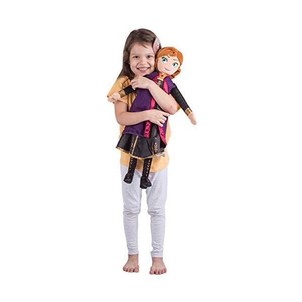アナと雪の女王 アナ 大きい ぬいぐるみ 抱き枕 クッション 寝具 グッズ Franco Kids Bedding Super Soft Plush Snuggle Cuddle Pillow, One Size, Disney Frozen 2 Anna