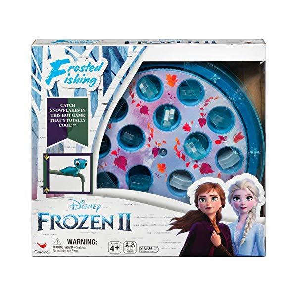 アナと雪の女王2 サラマンダー 釣り ゲーム おもちゃ くるくる 回転 おもしろ フィッシング お魚 つり パクパク おもちゃ グッズ Disney Frozen 2 Frosted Fishing Game for Kids & Families