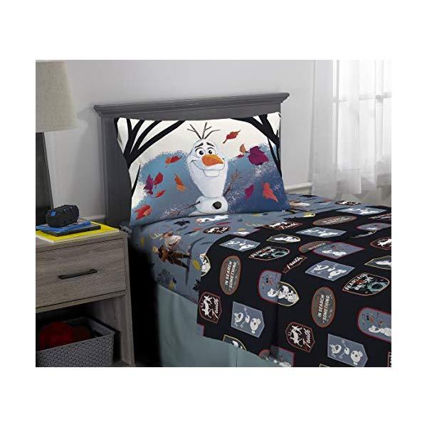 アナと雪の女王2 オラフ 寝具セット 3ピース ベッドカバー ふとんカバー 枕カバー ピローケース グッズ Franco Kids Bedding Super Soft Microfiber Sheet Set, 3 Piece Twin Size, Disney Frozen 2 Olaf