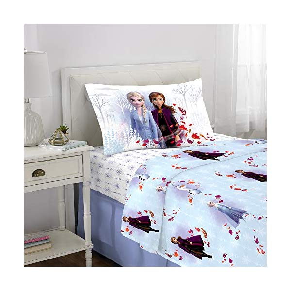 アナと雪の女王2 エルサ アナ 寝具セット 3ピース ベッドカバー ふとんカバー 枕カバー ピローケース グッズ Franco Kids Bedding Super Soft Microfiber Sheet Set, 3 Piece Twin Size, Disney Frozen 2