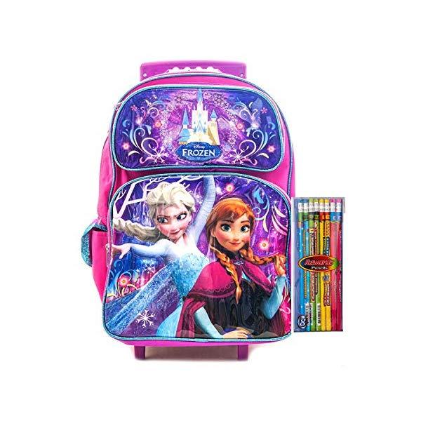 アナと雪の女王 エルサ アナ リュック バックパック バッグ かばん 鞄 キャリーバッグ 旅行 ディズニー キッズ 子供 Frozen Rolling Backpack Anna & Elsa Disney Backpack School, Travel Bag