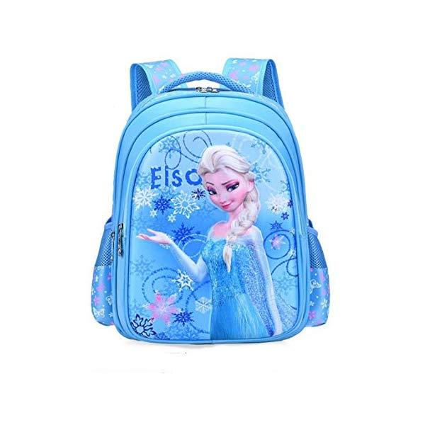 アナと雪の女王 エルサ リュック バックパック バッグ かばん 鞄 ディズニー キッズ 子供 ブルー (38x28x16 cm) BIGMENG Frozen Elsa School Backpack for Girls Blue Disney Cartoon Student Bookbag for Toddler