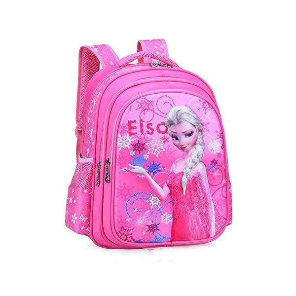 アナと雪の女王 エルサ リュック バックパック バッグ かばん 鞄 ディズニー キッズ 子供 ピンク (38x28x16 cm) BIGMENG Frozen Elsa School Backpack for Girls Pink Disney Cartoon Student Bookbag for Toddler