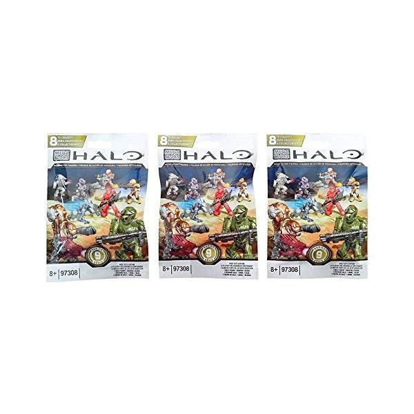 メガブロック ヘイロー Mega Bloks Halo (3 Packs) Series 9 Mini Figure Blind Bags (Total of 3 Packs)