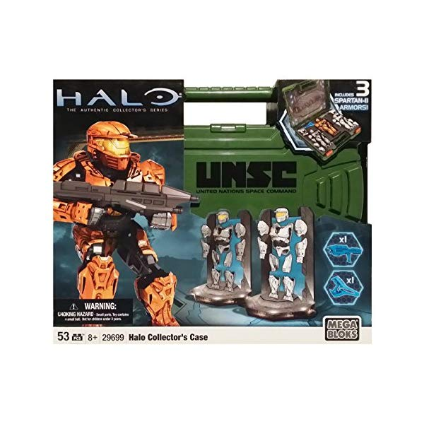 メガブロック ヘイロー Mega Bloks Halo Spartan Armor Action Figure Collector's Case (Green Case)
