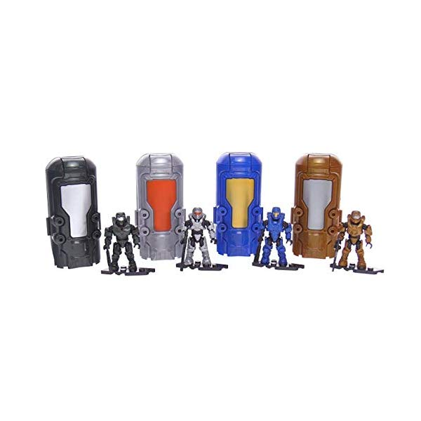 メガブロック メガコンストラックス Mega Construx Set of 4 Metallic Cryotubes Green Blue Copper Silver