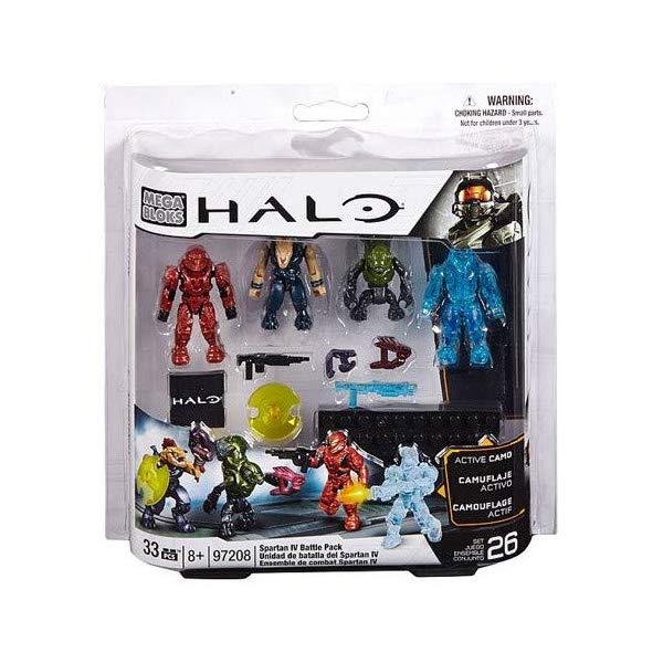 メガブロック ヘイロー Mega Bloks, Halo, Spartan IV Battle Pack (UNSC Spartan Scout, Covenant Storm Jackal, Covenant Imperial Grunt, and UNSC Camo Recruit) (97208)