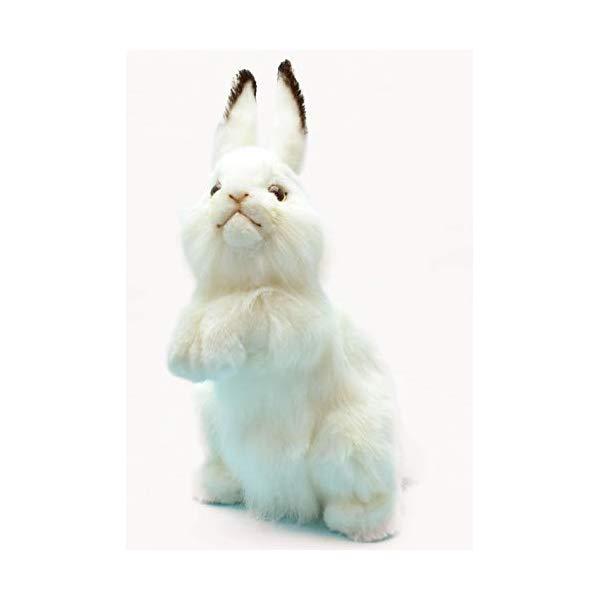 ハンサ ウサギ 兎 うさぎ ホワイト 白 ぬいぐるみ 13インチ Hansa Rabbit Plush Animal Toy, 13