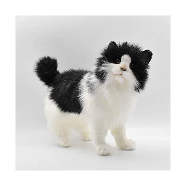 ハンサ ネコ 猫 ブラック 黒 ホワイト 白 Plush Hansa 舗 ぬいぐるみ Black White メーカー公式ショップ Cat