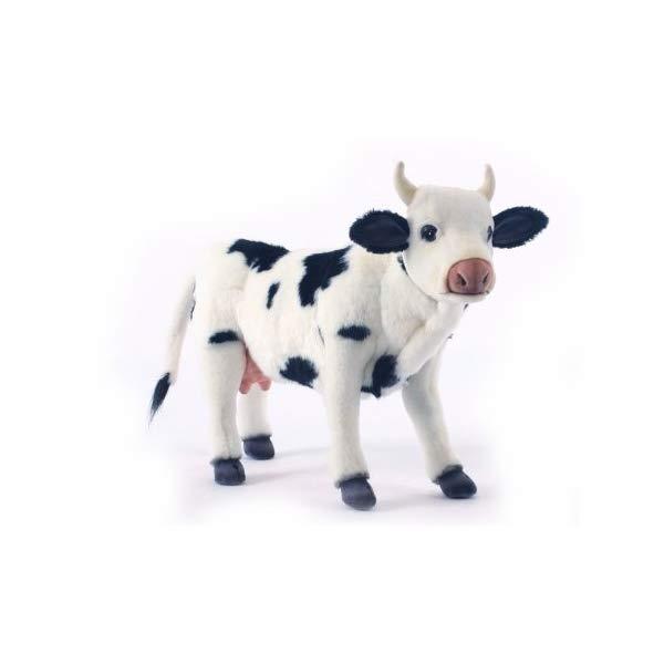 ハンサ ウシ 牛 ブラック 黒 ホワイト 白 ぬいぐるみ Hansa Cow Plush, Black/White