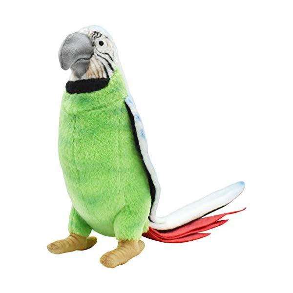 ハンサ オウム グリーン 緑 ブルー 青 ぬいぐるみ 7インチ Hansa Parrot Plush Animal Toy, 7