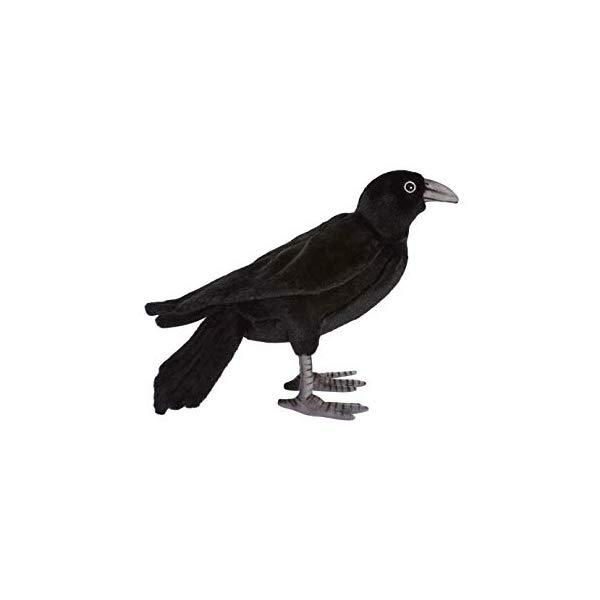 ハンサ カラス 烏 ブラック 黒 ぬいぐるみ 12インチ Hansa Black Crow 12