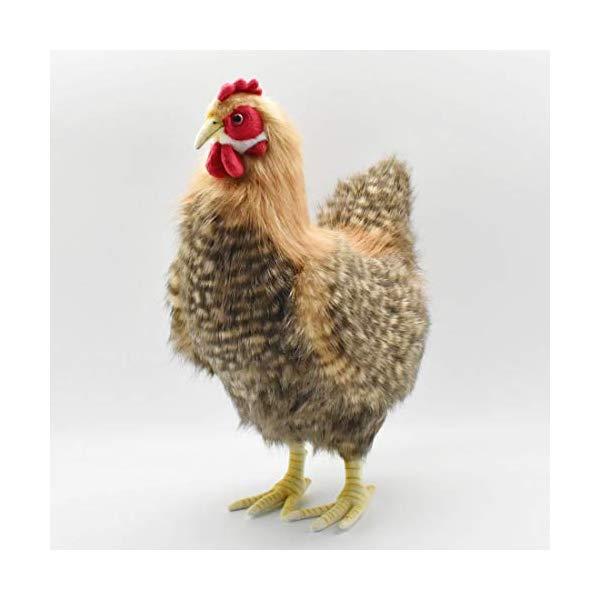 ハンサ ニワトリ 鶏 メス 雌 めんどり ブラウン 茶色 ぬいぐるみ Hansa Hen Plush, Brown
