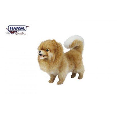ハンサ ポメラニアン ブラウン 茶色 ぬいぐるみ Hansa 7018 Toys - Dog, Pomeranian, Brown