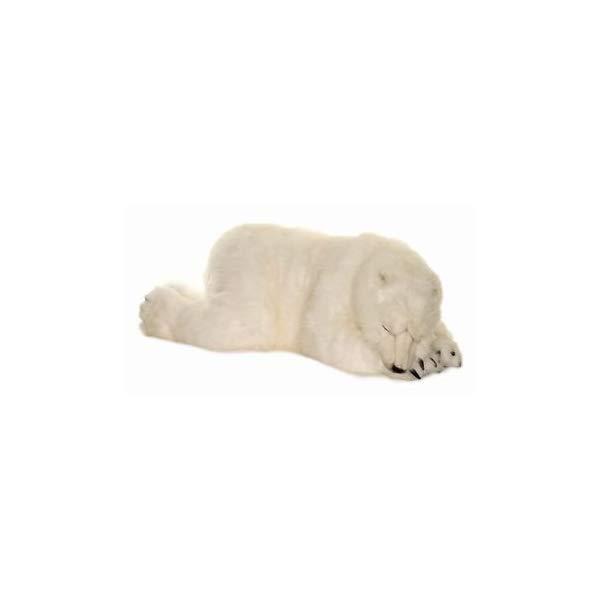 ハンサ フロッピー ポーラーベアー シロクマ 白熊 白くま ホッキョクグマ 子供 ぬいぐるみ Hansa Sleeping Polar Cub Plush, Large