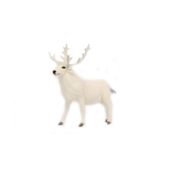ハンサ トナカイ ホワイト 白 ぬいぐるみ 14インチ Hansa Reindeer Plush, White, 14