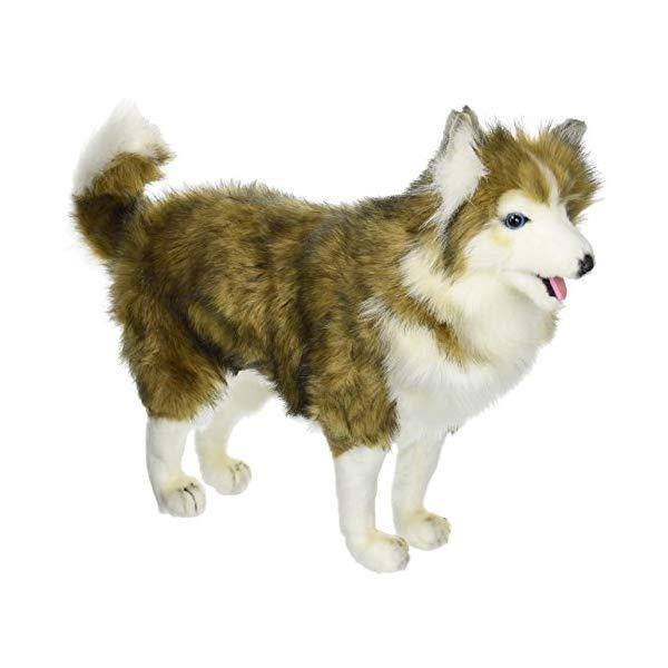 ハンサ シベリアンハスキー ぬいぐるみ Hansa Husky Dog Plush