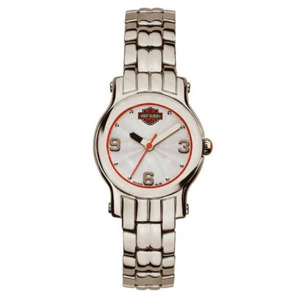 ハーレーダビッドソン Harley-Davidson Harley Davidson 腕時計 時計 Harley-Davidson Women's Bulova Bracelet Wrist Watch 76L156