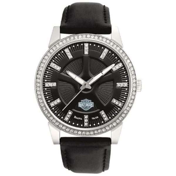 ハーレーダビッドソン Harley-Davidson Harley Davidson 腕時計 時計 Harley-Davidson Women's Bulova Watch. 76L158