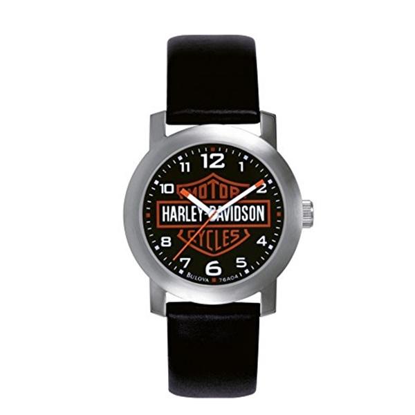 ハーレーダビッドソン Harley-Davidson Harley Davidson 腕時計 時計 Harley Davidson Black Leather 76A04