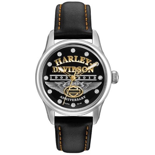 ハーレーダビッドソン Harley-Davidson Harley Davidson 腕時計 時計 Harley-Davidson Women's Bulova 110th Anniversary Watch. 76L164