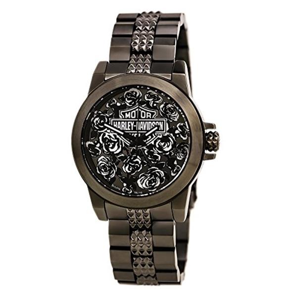 ハーレーダビッドソン Harley-Davidson Harley Davidson 腕時計 時計 Harley-Davidson Women's Bulova Rose Faced Wrist Watch 78L115