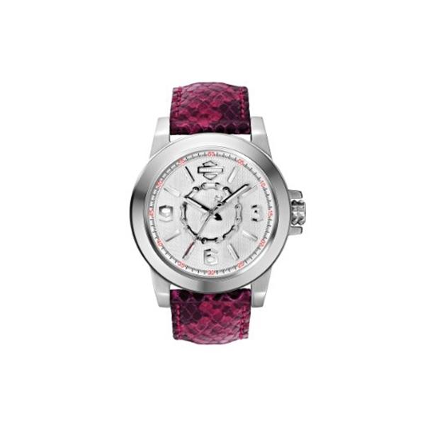 ハーレーダビッドソン Harley-Davidson Harley Davidson 腕時計 時計 Harley-Davidson Women's Bulova Chain Wrist Watch 76L172