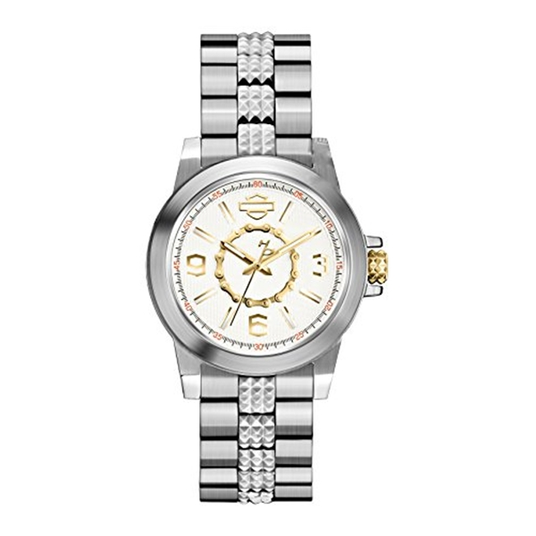 ハーレーダビッドソン Harley-Davidson Harley Davidson 腕時計 時計 Harley-Davidson Women's Silver Stainless Steel Wrist Watch 78L117