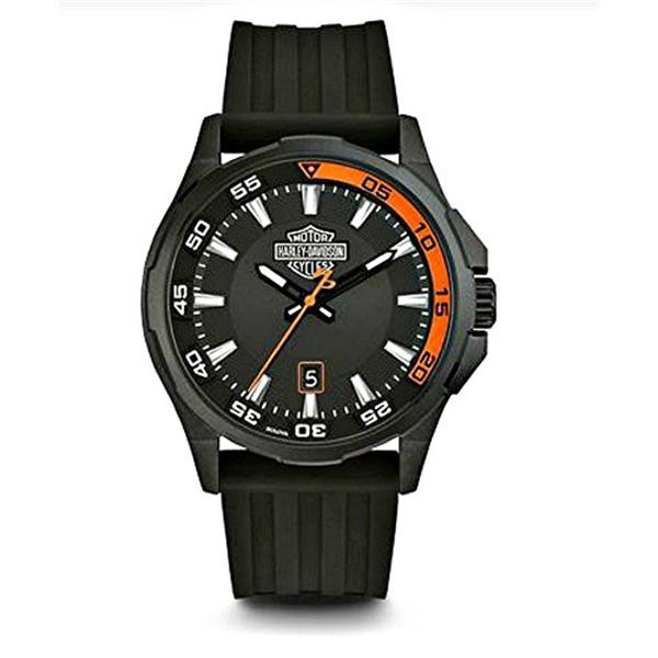 ハーレーダビッドソン Harley-Davidson Harley Davidson 腕時計 時計 Harley-Davidson Men's Dashboard B&S Watch, Stainless Steel/Silicone Strap 78B140