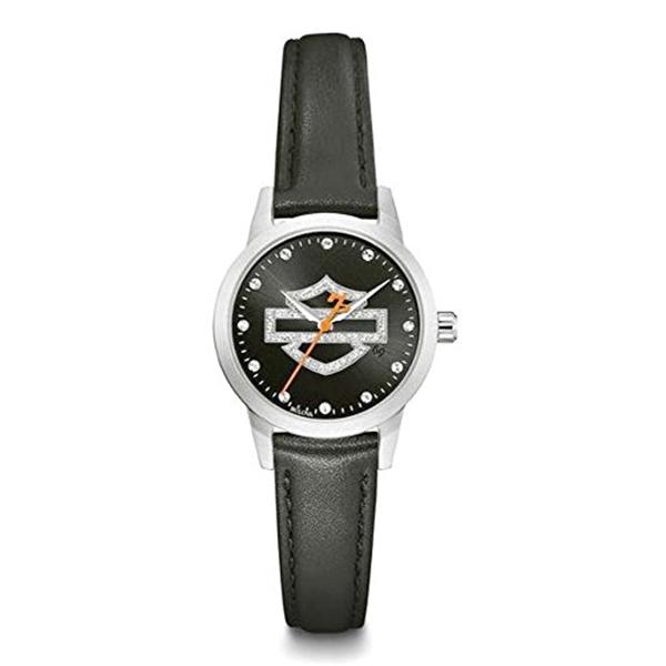 ハーレーダビッドソン Harley-Davidson Harley Davidson 腕時計 時計 Harley-Davidson Women's Glitter Bar & Shield Watch, Stainless Steel Case 76L181