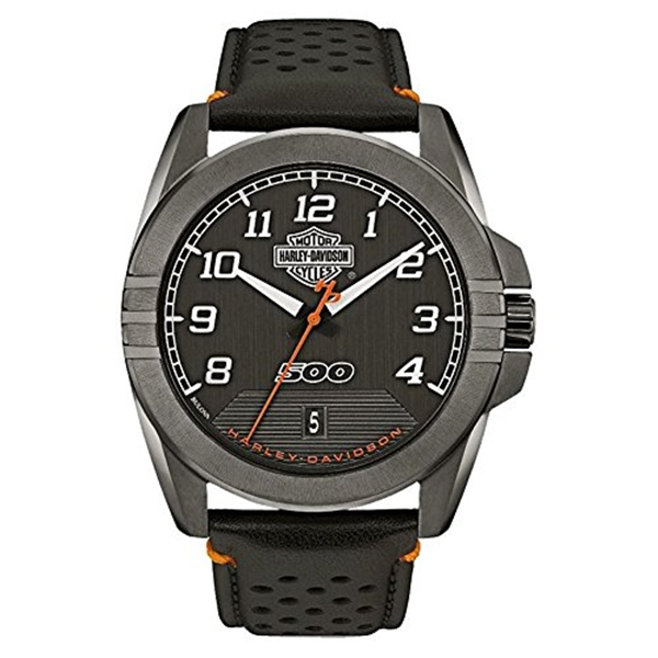 ハーレーダビッドソン Harley-Davidson Harley Davidson 腕時計 時計 Harley-Davidson Men's B&S Rugged Stainless Steel Watch, Gunmetal Finish 78B143