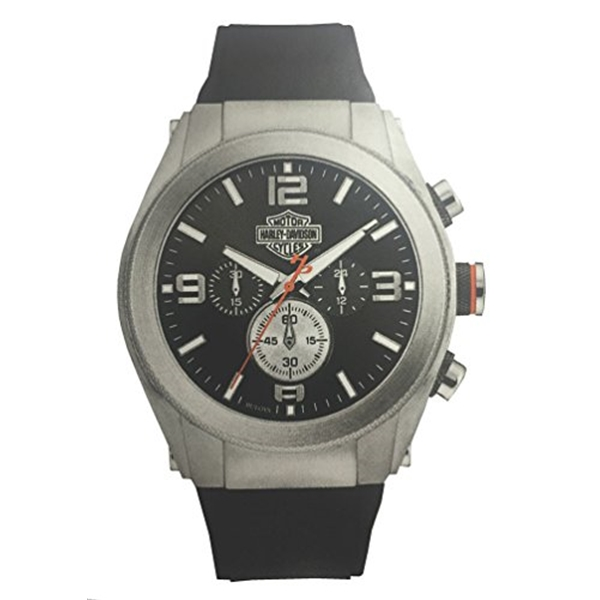 ハーレーダビッドソン Harley-Davidson Harley Davidson 腕時計 時計 Harley-Davidson Men's Six-Hand Chronograph Watch, Two-Tone Steel Case 76B176