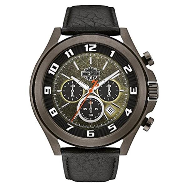 ハーレーダビッドソン Harley-Davidson Harley Davidson 腕時計 時計 Harley-Davidson Men's Six-Hand Chronograph Watch, Tumbled Gray Finish 78B149