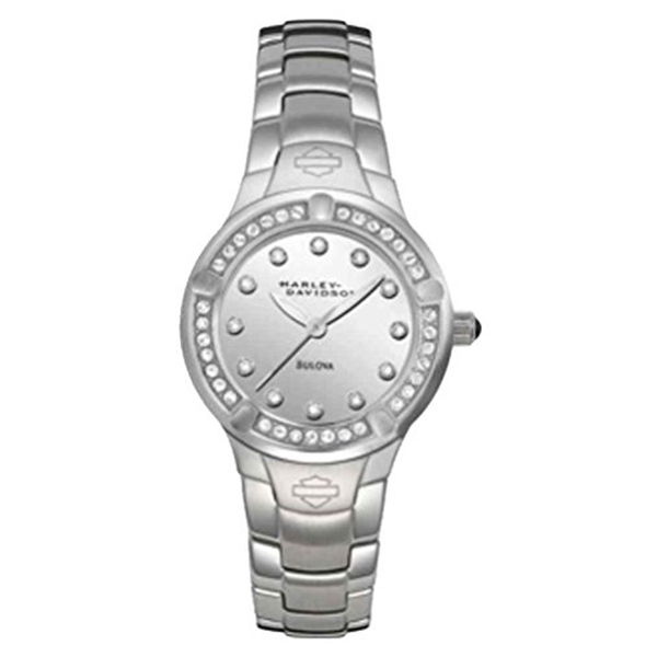 ハーレーダビッドソン Harley-Davidson Harley Davidson 腕時計 時計 Harley-Davidson Women's Crystal Embellished Stainless Steel Watch, Silver 76L033