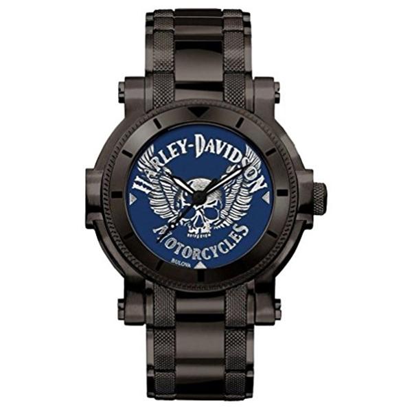 ハーレーダビッドソン Harley-Davidson Harley Davidson 腕時計 時計 Harley-Davidson Men's Winged Skull Stainless Steel Watch, Gunmetal Finish 78A117