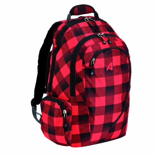Athalon Luggage Computer Backpack コンピューターバックパック, Lumber Jack, One Size