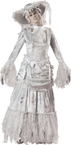 In Character Costumes キャラクターコスチューム LLC ゴースター レディースGhostly Lady Adult Gown, Gray