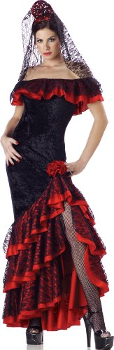 In Black/Red Character Costumes In コスチューム セニョリータ LLC Senorita Panne Panne Gown, Black/Red, セルフメディコム株式会社:98c993ba --- officewill.xsrv.jp
