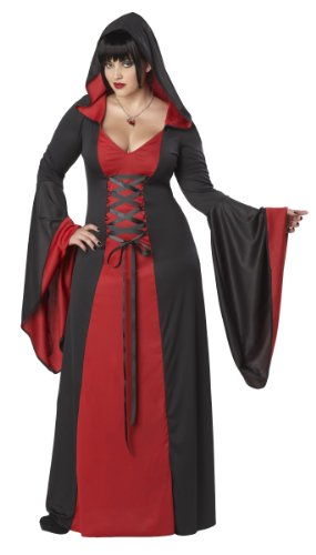 California Costumes Plus-Size デラックス フードローブ Deluxe Hooded Robe, Red/black