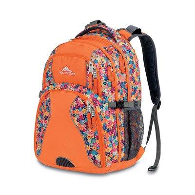 High Sierra ハイシェラ バックパック フラワー オレンジ Swerve Backpack, Taj Flowers/Orange, 19x13x7.75-Inch
