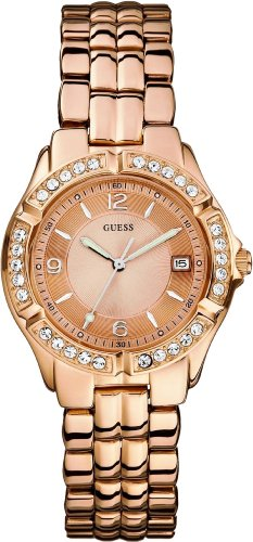 GUESS ゲス レディース 腕時計 U11069L1 Dazzling Sporty Mid-Size Watch - Rose Gold