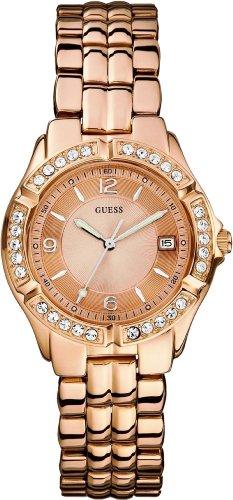GUESS ゲス レディース 腕時計 U11069L1 Dazzling Sporty Mid-Size Watch - Rose Gold