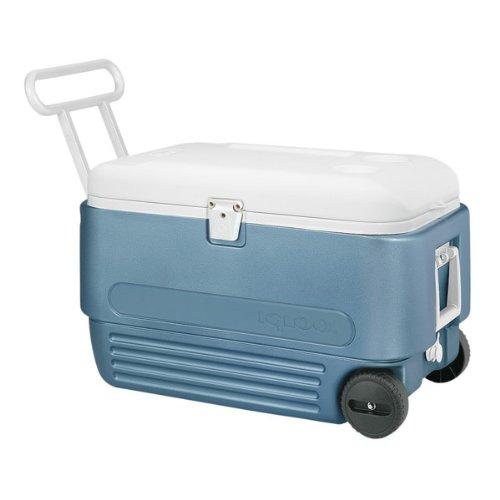 Igloo イグルー クーラーボックス マックスコールド 56リットル MaxCold 60 Roller Cooler (60-Quart, Icy Blue)