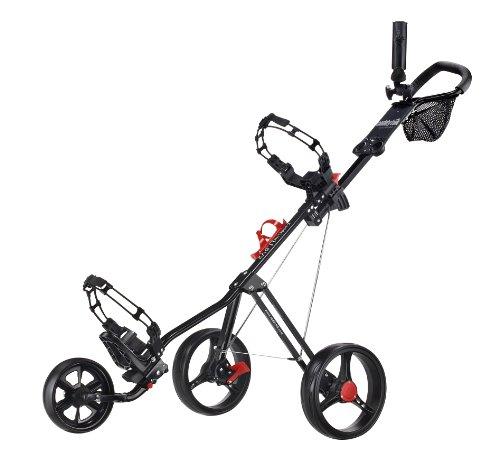 CaddyTek キャディテック スーパーライト デラックス ブラック SuperLite Deluxe Golf Push Cart, Black