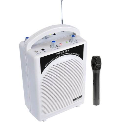 PYLE-PRO PWMA100 - ワイヤレスマイク 充電式ポータブル PAシステム Rechargeable Portable PA System with Wireless MIC