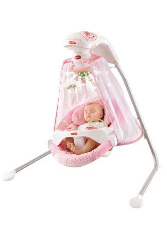 Fisher-Price フィッシャープライス Papasan Cradle Swing, Butterfly Garden
