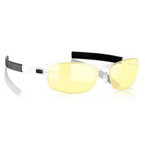 Gunnar ガンナー ゲーム・PC・パソコン用メガネ Optiks PHA-04201 MLG Phantom Full Rim Advanced Video Gaming Glasses with Headset Compatibility and Amber Lens Tint, Snow/Onyx Frame Finish